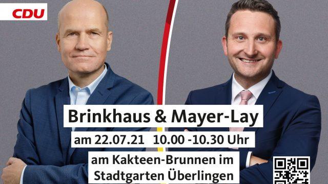 Brinkhaus &#038; Mayer-Lay am 22.07.2021 um <br>10.00 Uhr am Kakteenbrunnen im Stadtgarten Überlingen