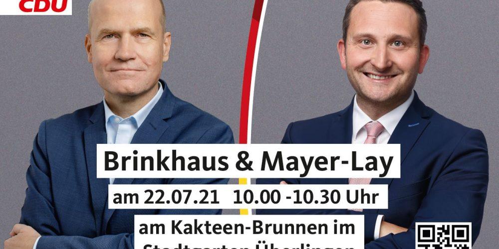 Brinkhaus & Mayer-Lay am 22.07.2021 um <br>10.00 Uhr am Kakteenbrunnen im Stadtgarten Überlingen
