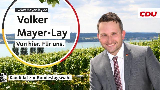 Glückwünsche an Volker Mayer-Lay MdB
